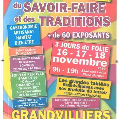 Affiche salon du savoir faire et des traditions de grandvilliers 2019