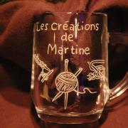 Chope mug grave specialement pour mon amie martine