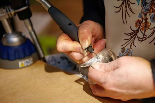 Gravure sur verre personnalisee artisanale