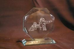 """Le trophée verre """"Diamant"""""""