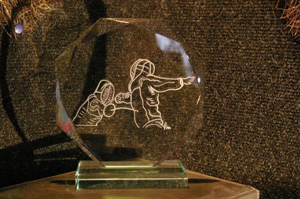 Gravure sur verre réalisée d'après une photo