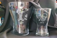 Vases evases graves en trophees pour le concours de boules de st maur 2012